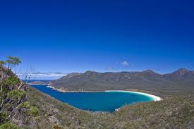 stock photo of wine-glass  - Wine Glass Bay Tasmania part of Freycinet National Park - JPG