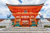 Main gate of Fushimi Inari-taisha shrine in Kyoto