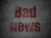 News concept: Bad News on grunge wall background