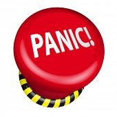 detailed illustration of an industrial panic button, eps10 vector