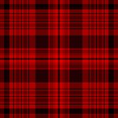 Tartan Traditional Checkered British Fabric Seamless Pattern, Black And Red, Vector..