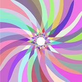 Retro multicolored abstract pattern