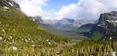 Panoramic view of Logan pass in Montana