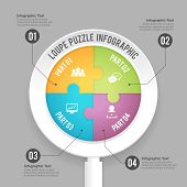 Loupe Puzzle Infographic