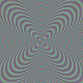 Colorful,  abstract circular illusory image