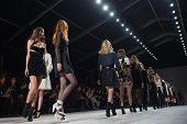 NEW YORK-FEB 8: Models walks the runway at the Jill Stuart fashion show during Mercedes-Benz Fashion