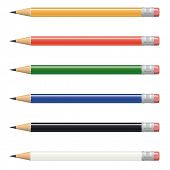 Vector Pencil Collection. Vector Illustration of pencils in various colors. Each pencil has its own layer.