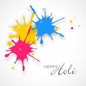 Indian festival Happy Holi celebrations concept with colour splash background.