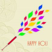 Indian festival Happy Holi celebrations concept with beautiful colours splash coming out from a pich