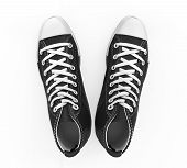Black Sneakers Isolated