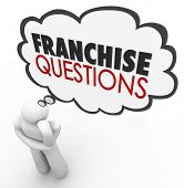 stock photo of food chain  - Franchise Questions Thought Cloud Chain Business Store Opportunity - JPG