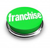 Franchise Word Button New Chain Brand Business Opportunity