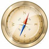 Glossy Golden Compass