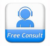 free consult button or help and information desk icon optimal customer support Gratis consultation s