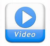 Play video clip button or watch movie online icon or in live stream, multimedia