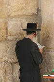 Prays In Western Wall