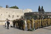 Israeli Soldiers At The Wailing Wall  Jerusalem