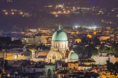 foto of synagogue  - Jewish Synagogue of Florence from top - JPG