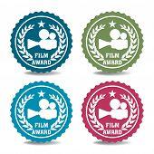 Film award badges