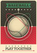 foto of hitter  - Retro baseball poster design - JPG