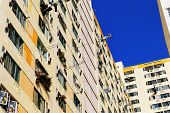 stock photo of public housing  - Government public house residential buildings in Hong Kong - JPG