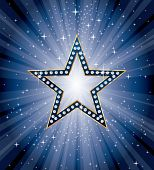 vector diamond star on blue star burst