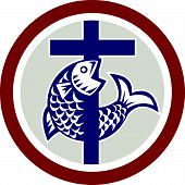 Fish On Cross Circle