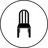 wooden chair symbol