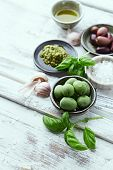 stock photo of antipasto  - Basil Pesto - JPG