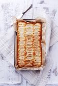Homemade Fat-Free Apple cake ina Cake Tin