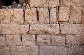 Background wall of bricks