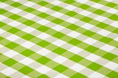 Green Checkered Tablecloth
