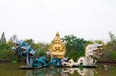 Bodhisattva Statue With Dragon