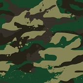 Khaki Jungle Camouflage Pattern.