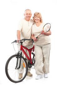 picture of mature adult  - Active elderly couple - JPG