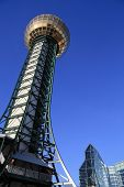 stock photo of knoxville tennessee  - Knoxville Sunsphere with a conference center in background - JPG