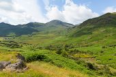 View to the south of Blea Tarn between Great Langdale and Little Langdale Lake District Cumbria Engl