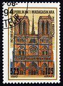 Postage Stamp Malagasy 1995 Notre Dame Cathedral, Paris