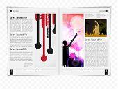 Template magazine. Vector