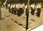 SIERADZ, POLAND, CIRCA SIXTIES - Vintage photo of military orchestra