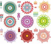 Round Ornament Pattern with Pattern brash