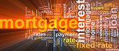 Mortgage Word Cloud Glowing