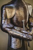 warfare, medieval armor made of wrought iron