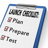 Launch Checklist Clipboard