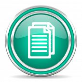 document green glossy web icon