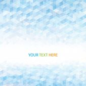 Abstract perspective geometric light blue  background. Vector.
