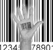 Open Hand With Barcode