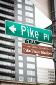 Pike Place Market Street Sign At The Famous Marketplace