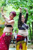 MUSKOGEE, OK - MAY 24: Dancers dressed as Gypsies perform at the Oklahoma 19th annual Renaissance Fe