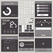 Set elements used for user interface. black